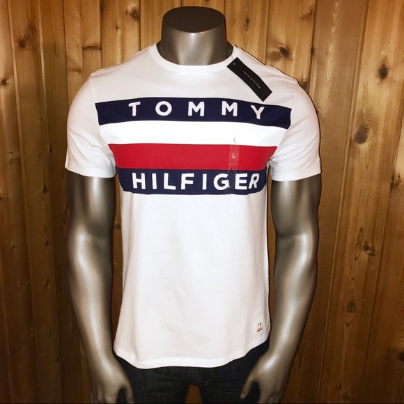 bdfc418bb102e NWT! Tommy Hilfiger Classic Flag Men s T-Shirt